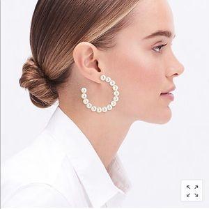 J. Crew Factory Peal Hoop Earrings